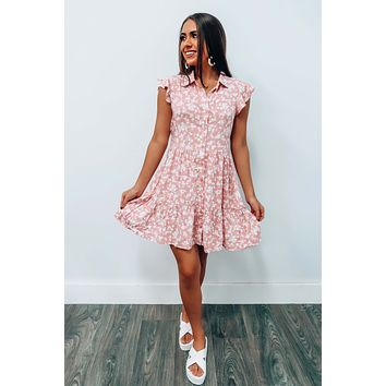 Time It Well Dress: Dusty Pink/Ivory
