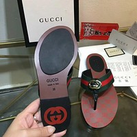 Gucci Popular Summer Women's Flats Men Slipper Sandals Shoes