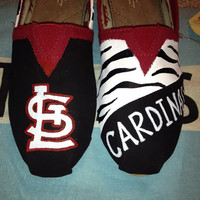 St. Louis Cardinals Inspired Custom TOMS Shoes