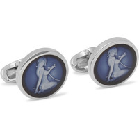 Paul Smith Shoes & Accessories - Naked Lady Silver-Tone Enamelled Cufflinks | MR PORTER