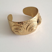 Vintage Gold Hammered Cuff UK Shop