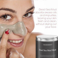 Dead Sea Mud Mask Best for Facial Beauty Skin Treatment Minimizes Pores Reduces Wrinkles