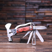 Personalized Multi-tool Pocket Knife Engraved and Monogrammed Groomsmen, Father's Day Graduation Gift for Men (024242)