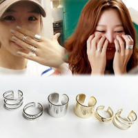 Gold Silver Plated Stack Knuckle Rings Midi Finger Bands Set
