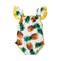 Cute Pineapple Printed Swimwear Toddler Baby Girls Summer One Piece Bikini Swimming Bathing Suits Swimsuit Children's Bikinis