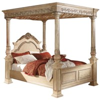 Sienna Antique White Queen Bed