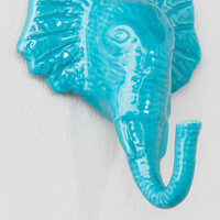 Blue Elephant Wall Hook