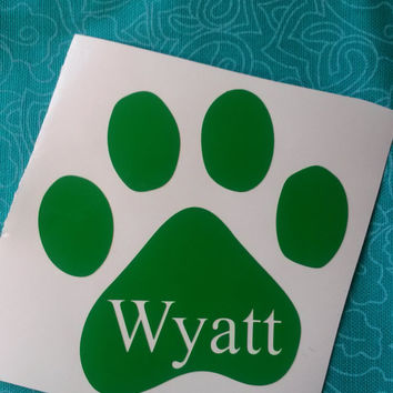Paw Print Decal | Animal Lover | Car Decal | Vinyl Decal | Dog Lover | Sticker | Fur baby decal | Monogram | Personalize | Glitter Decal