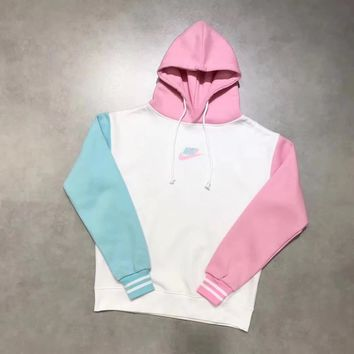 Nike limited edition Ice cream Color Splicing Hoodie Top Sweater Pullover