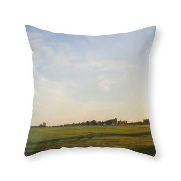 Society6 Midwest Fields S Throw Pillow
