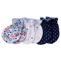 Baby Girls' 3 Pack Mitten Set Butterfly - Gerber® : Target