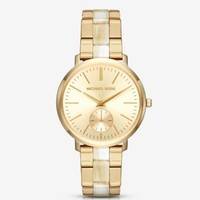 Jaryn Gold-Tone and Acetate Watch   Michael Kors