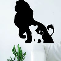 Mufassa Simba Lion King Silhouette Design Decal Sticker Wall Vinyl Decor Art Movie Disney Cartoon Kid Cute Baby