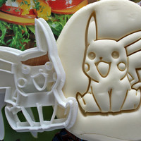 Pokemon Pikachu Cookie Cutter / Made From Biodegradable Material / Brand New