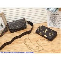 LV Hot Selling Ladies'Printed Two-piece Set of Small Single Shoulder Bag