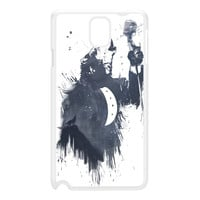 Wolf Song 3 White Hard Plastic Case for Galaxy Note 3 by Balazs Solti