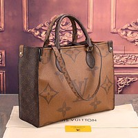 LV Louis Vuitton Women's Leather Shoulder Bag Satchel Tote Bags Crossbody 34 x 26 x 12 cm