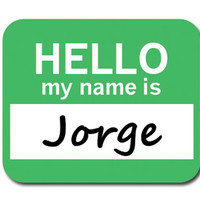 Jorge Hello My Name Is Mouse Pad