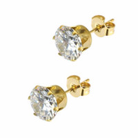The Diamond Stud Earrings in Gold