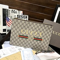 GUCCI Fashionable temperament bag in hand Business envelope bag casual hand bag man-5