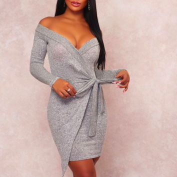ALL WRAPPED UP SWEATER DRESS