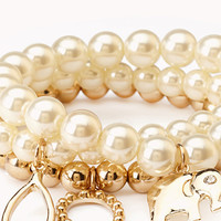 Luxe Faux Pearl Bracelet Set   FOREVER 21 - 1000109922