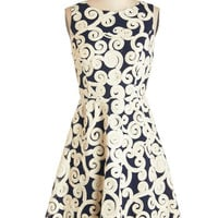 ModCloth Mid-length Sleeveless A-line Swirl into the Soiree Dress