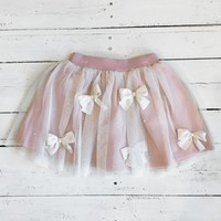 Bows Before Bros Skirt - Blush