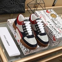 D&G  Men Fashion Boots fashionable Casual leather Breathable Sneakers Running Shoes 12