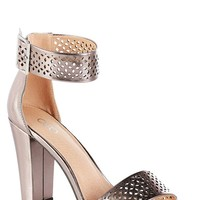 Wide Width Laser Cut Ankle Strap Sandals Wide Width Cato Fashions