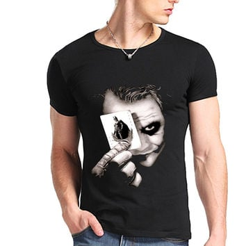 [Free Shipping] Heath Ledger Batman 2 The Dark Knight Rises T Shirt