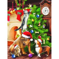 Trimming the Tree Christmas Jigsaw Puzzle - Puzzle Haven