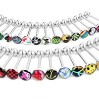 BodyJ4You Tongue Ring Logo Barbell Lot of 30 Pieces 14G Piercing Jewelry
