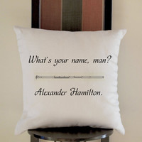 Alexander Hamilton Pillow, Pillow Case, Pillow Cover, 16 x 16 Inch One Side, 16 x 16 Inch Two Side, 18 x 18 Inch One Side, 18 x 18 Inch Two Side, 20 x 20 Inch One Side, 20 x 20 Inch Two Side