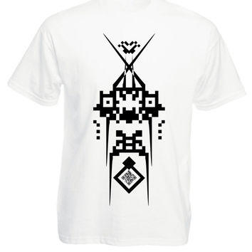 White Tshirt - Mast Style - Mens tshirt / Unisex tshirt -  Available Size S M L XL - Black and White