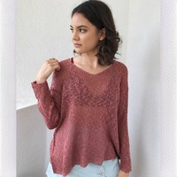 LOVELORN KNIT SWEATER- RUST