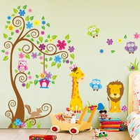 DIY Removable Animal Tree Wall Sticker Vinyl Decal Kids Nursery Home Art Decor