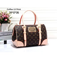 LV tide brand female handbag shoulder bag Messenger bag coffee lv print