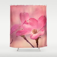 Colors of Spring: Pink Dogwood Shower Curtain by Legends Of Darkness Photography
