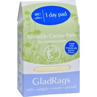 Gladrags Organic Undyed Day Pads - Plus - 1 Pack