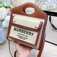 BURBERRY Fashionable Women Shopping Bag Tote Handbag Crossbody Satchel Shoulder Bag
