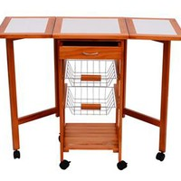 Rolling Kitchen Trolley with Foldaway Sides