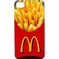 One-Piece iPhone 4 or 4s Tinted Rubber Case McDonalds French Fries in Box