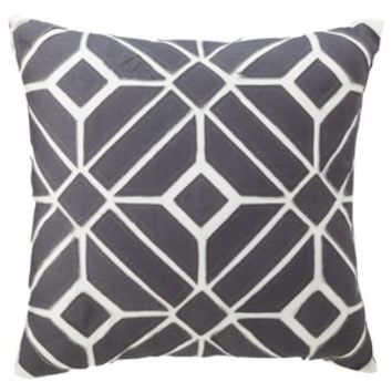 "Nate Berkus™ Geometric Toss Pillow - Gray (18x18"")"