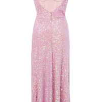 Heart Of Glass Sequin Silk Midi Dress | Moda Operandi