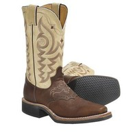 """Justin Boots Aqha Q-Crepe Cowboy Boots - Leather, 11"""", Square Toe, Rubber Outsole (For Women) - Save 32%"""