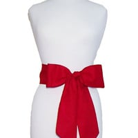 Scarlet Red Gameday Bow