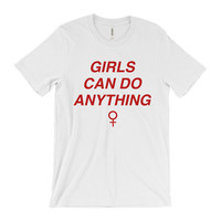 Feminist Shirt- Feminist T-Shirt - Inspirational Shirt -Tumblr Shirt - Girls Can Do Anything - The Future is Female - Girl Power - GRL PWR