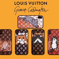 LV Louis Vuitton Hot Sale Fashion Christmas Cat Pattern For iPhone Phone Cover Case Mobile Phone For iphone 6 6s 6plus 6s-plus 7 7plus iPhone 8 8 Plus iPhone X iPhone XsMax