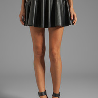 Line & Dot Faux Leather Circle Skirt in Black from REVOLVEclothing.com